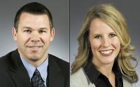 Rep. Tim Kelly, R-Red Wing, left, and Rep. Tara Mack, R-Apple Valley (Courtesy of Minnesota House of Representatives)